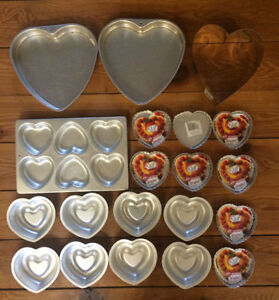 VALENTINES Heart Cake Pans 20 pans for $15 London Ontario image 1
