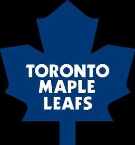 Leafs vs Canucks Nov. 5th Reds 2 seats Sec 112 Aisle