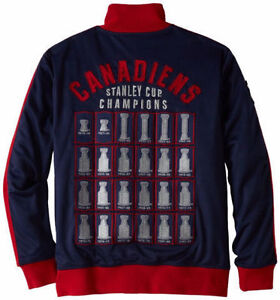 CCM NHL MONTREAL CANADIENS LORD STANLEY TRACK JACKET MEN'S XL