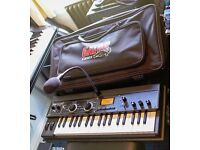 KORG Microkorg XL+ synthesizer/vocoder mint condition with Gator padded gig bag