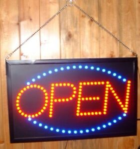 OPEN STORE SIGN LED  LIGHTS 3 display light settings