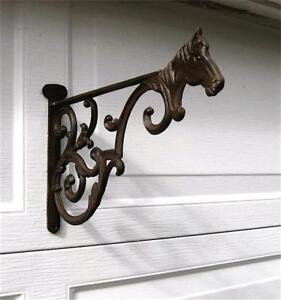 Cast Iron Horse Hanging Basket Wall Bracket