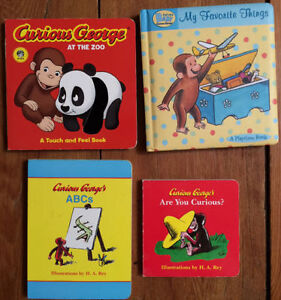 CURIOUS GEORGE BOARD BOOKS $3 each or all 4 for $10
