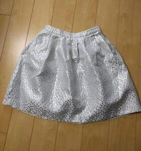 Skirt - Party Skirt - Shiny Silver Party Skirt for Any Occasion