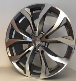 "Audi A6 S line design gun metal polished 8.5x19"" et32 5/112 NOVEMBER OFFER ONLY £550."
