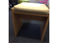 Beech effect dressing table stool.