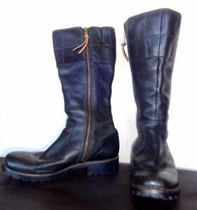 TIMBERLAND LEATHER BOOTS - $200+ Still new BLACK - WOMENS 8.5 medium (a tight-fitting 9M)