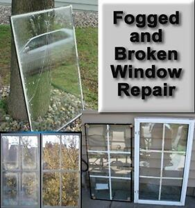 Broken glass repair / moisture repair