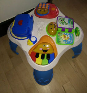 Toddler play table with lights and sounds