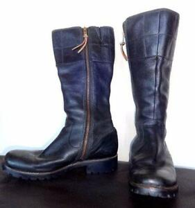 TIMBERLAND LEATHER BOOTS - $200+ Still new BLACK - WOMENS 9M