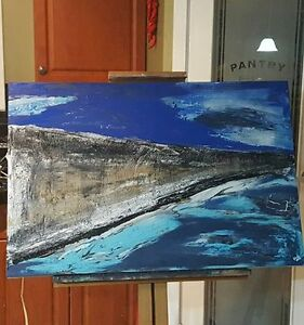 Original abstract seascape painting