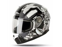 Nitro Motorcycle Helmet - Black/Gun (Size Medium 57-58cm)
