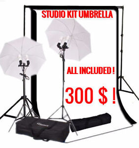 STUDIO KIT PHOTO SHOOT & UMBRELLA LIGHTS - KIT PARAPLUIE