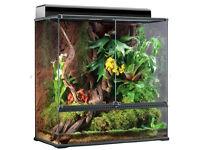 ExoTerra Glass Terrarium (90x45x90cm), Stand, Misting System, Heat Mat, Lighting etc