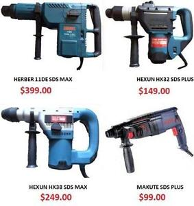 SDS MAX SDS PLUS ROTARY HAMMER DRILL, Chisels, Scraper, Brand new Warranty