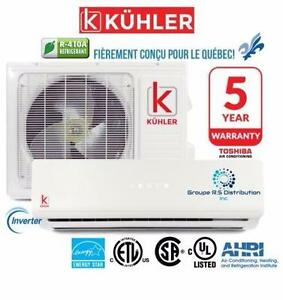 Climatiseur/Thermopompe Mural 30,5SEER! 10 Ans Garantie*!!