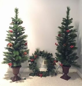 Christmas tree set (3 items) with lights