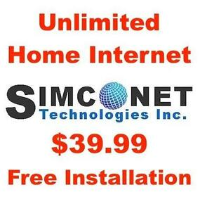 Unlimited Internet, $0 Modem+$0 Install+$0 Dry Loop, $39.99