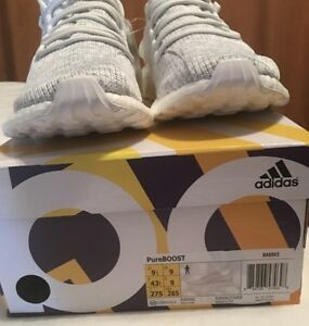 Adidas Pure Boost Triple White 3.0 2017 Dead Stock SZ 9.5 RETAIL