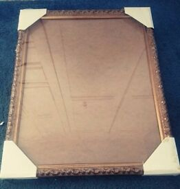 Gold Tinted Wooden Picture Frame