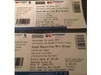 "2 ""Good Mourning Mrs Brown"" Tickets for 10th June @ Nottingham Motorpoint Arena"