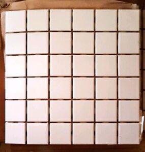 """17 unused ceramic tiles. Each sheet is 12 in x 12 in of 2"""" sq"""