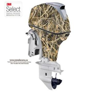 CAMO LARGE OUTBOARD BOAT WRAP KIT