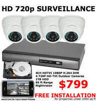 CCTV SURVEILLANCE SECURITY CAMERA SYSTEM FREE INSTALL BEST RATES