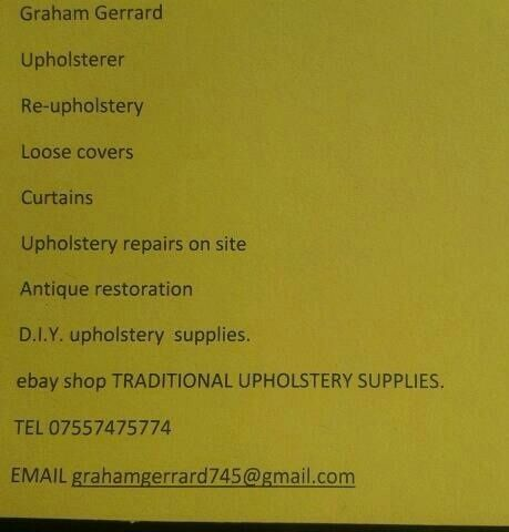 TRADITIONAL UPHOLSTERY SUPPLIES