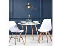 Modern Cream White Dining Table 80 * 80 * 76cm