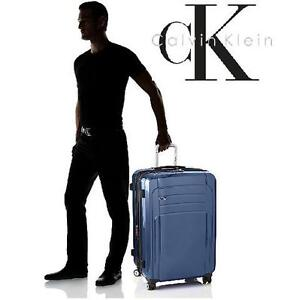 NEW CALVIN KLEIN SUITCASE ONE SIZE ROME 29-INCH UPRIGHT SPINNER SUITCASE LUGGAGE BLUE ONE SIZE 103391257