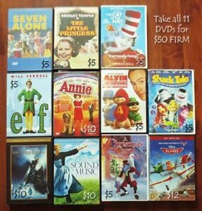 **Lot of 11 Family Friendly DVDs for sale \Most are Christmas th