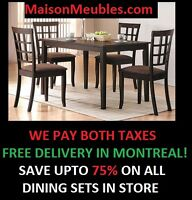 Free Delivery! No Taxes ! Dining Sets Upto 75% OFF