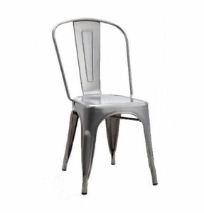RESTAURANT INDUSTRIAL TOLIX STYLE METAL BAR STOOL DINING CHAIR