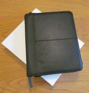 Leather iPad Organizer w/ Stand - Black