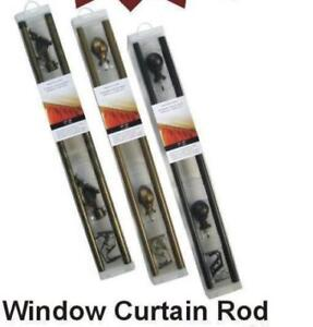 "Brand New Window 28"" X 48"" Curtain Rods For $12.00 Only"