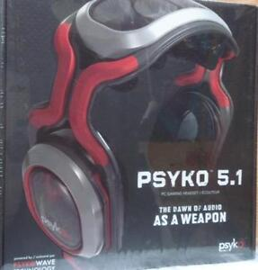 Psyko 5.1 Active Surround Sound Gaming PC Headphones Brand NEW