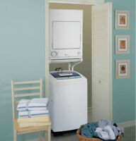 GE-spacemaker portable washer and dryer washer is on wheels dry