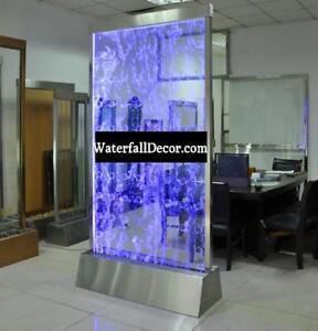 Indoor Waterfalls - Custom Water Walls Canada - LED Bubble Walls