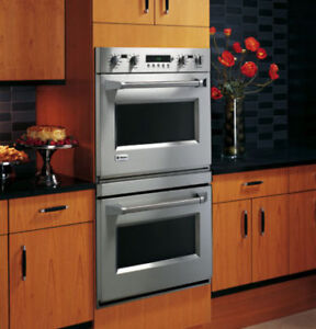 GE MONOGRAM WALL OVEN MODEL ZET2PMSS STAINLESS STEEL