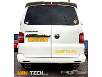 VW Transporter T5 fitted with Proflow Exhausts Stainless Steel Middle and Rear