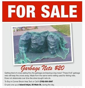 8' x 8' Garbage Net/Truck Cover for sale