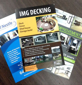 """5000 Flyer Glossy +AQ Both Side 5.5x8.5"""" Full color $159 Kitchener / Waterloo Kitchener Area image 3"""