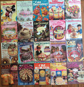 Vintage collection of WILTON CAKE DECORATING YEARBOOKS $50