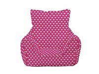 Children's Pink Beanbag Chair