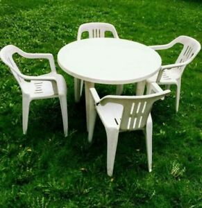 Patio Table Set- Table with 4 chairs