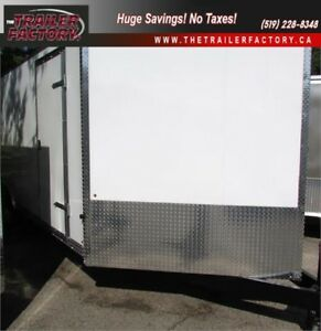 New Cargo Trailer 8.5'x18' V-Nose White, Financing Available