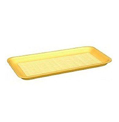Yellow Foam Meat Tray - CKF 17SY, #17S Yellow Foam Meat Trays, Frozen Food Trays, 100-Piece