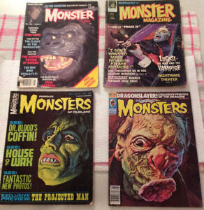 Famous Monsters Magazines and others for sale.4 mags -10.00 each
