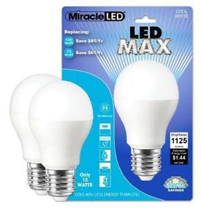 MiracleLED 604720 12-Watt LED MAX 1125 Lumens Perfect A19 Househ